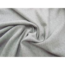 Unbrushed Cotton Fleece- Grey Marle #1046