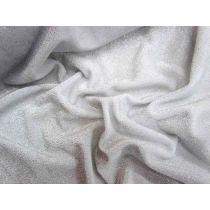 Shimmer Glitter Spot Stretch Velvet- White
