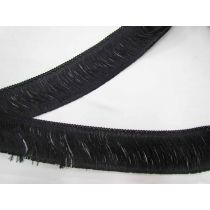 75mm Fringe Trim- Black