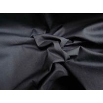 Stretch Poplin- Darkest Navy