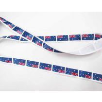 Australian Flag Satin Ribbon- 25mm