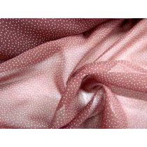 Snow Drop Silk Chiffon- Dusty Pink