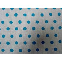 Echino Standard Spot- Blue on Grey