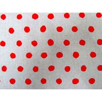 Echino Standard Spot- Red on Grey