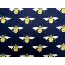 Blossom Bees Cotton- Navy