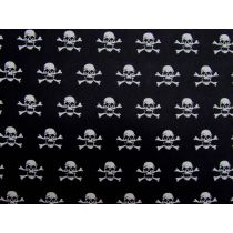 B&W Pirate Skulls Cotton
