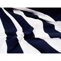 50x50 Striped Cotton Spandex- Navy