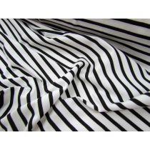 5x10 Striped Cotton Spandex- Black on White