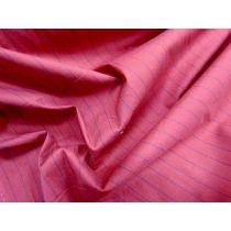 Red Corvette Stripe Stretch Shirting