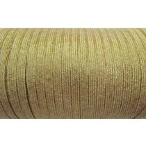 6mm Gold Metallic Elastic