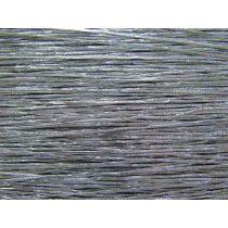 2mm Silver Metallic Hat Elastic
