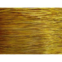 2mm Gold Metallic Hat Elastic