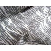Silver Trees Silk Lurex Organza