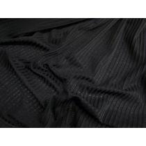 Sheer Seersucker Knit- Black