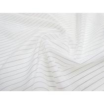 Pinstripe Nylon Lining- White
