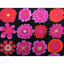 Kaffe Fassett Button Flowers- Black