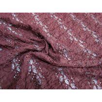 Garden Stripe Stretch Lace- Berry