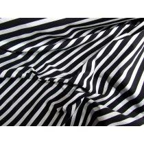 Glitter Stripe Spandex- Black/Silver