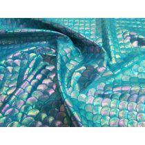 Pearl Mermaid Foile Spandex- Teal