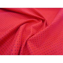 Small Spot Printed Corduroy- Raspberry