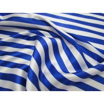 Stripe Satin- Royal/White