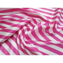 Stripe Satin- Pink/White
