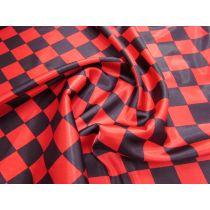 Harlequin Satin- Red/Black