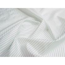 Pinstripe Nylon Lining- Mint on White