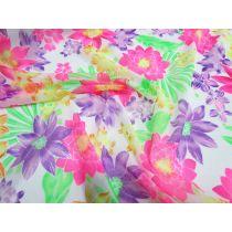 Festival Fluro Floral Printed Mesh