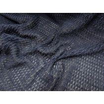 Soft Cotton Blend Boho Lace Knit- Ocean