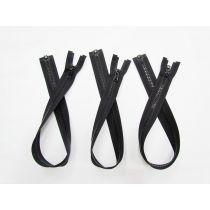 Zipper Bundle- Chunky Open End- 50cm Black- 3 for $5