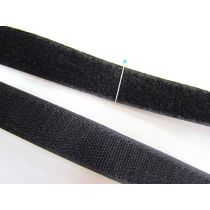 25mm Sew On Hook & Look Velcro- Black