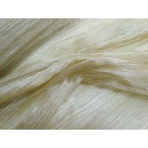 Hollywood Gold Pleated Organza