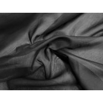 Silk Blend Voile- Night Out Black