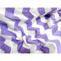 Chevron Knit on Net- Lilac