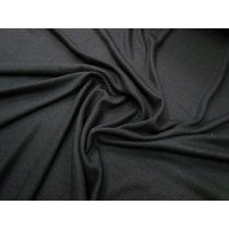 Soft Drape Mini Rib Jersey- Black