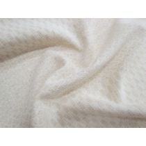 Textured Self Print Stripe Cotton- Natural