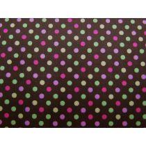 Colour Basic Spot Cotton- Multi on Brown