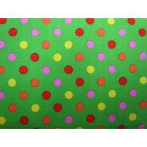 Colour Basic Big Spot Cotton- Multi on Green