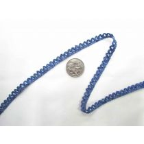 Metallic Scallop Stretch Trim- Blue