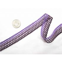 Triple Purple Lattice Lace