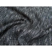 Bonded Textured Suiting- Static Black