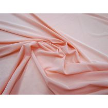 Sheer Stretch Crepe Jersey- Flamingo Peach