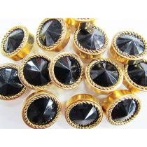 Cobra Eyes- Gold/Black- Couture Buttons- CB40