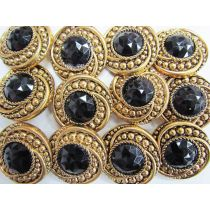 Sultan's Gems- Black Couture Buttons- CB241