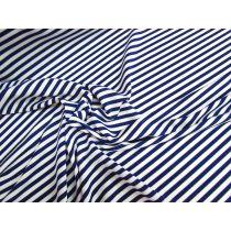 Lustrous Stripe Stretch Jersey- Navy