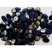 Fabric Covered Fashion Buttons- Dark Navy