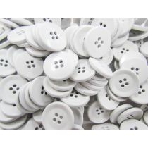 Coated Heavy Duty Fashion Buttons- White FB102