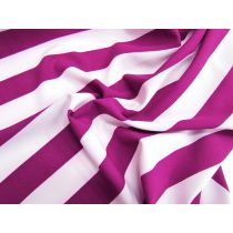 Magenta Pink Stripe Crepe *Imperfections*