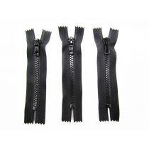 Zipper Bundle- Chunky Closed End- 11cm Black- 3 for $5